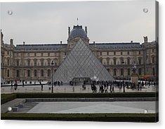 Louvre - Paris France - 011310 Acrylic Print by DC Photographer