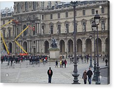 Louvre - Paris France - 011324 Acrylic Print by DC Photographer