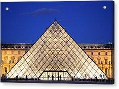 Louvre Pyramid Acrylic Print by Joanna Madloch