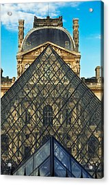 Louvre Symmetry Acrylic Print