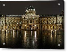 Louvre.pavillon Richelieu Acrylic Print by Rostislav Bychkov