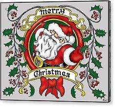 Lovable Santa Acrylic Print