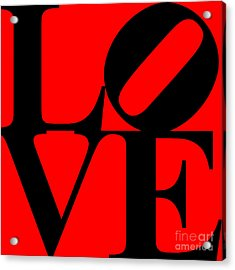 Love 20130707 Black Red Acrylic Print by Wingsdomain Art and Photography
