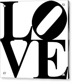Love 20130707 Black White Acrylic Print by Wingsdomain Art and Photography