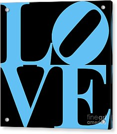 Love 20130707 Blue Black Acrylic Print by Wingsdomain Art and Photography