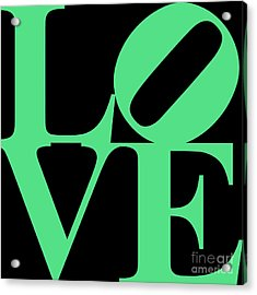 Love 20130707 Green Black Acrylic Print by Wingsdomain Art and Photography