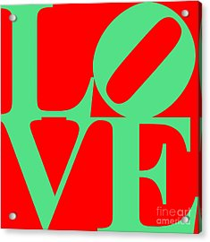 Love 20130707 Green Red Acrylic Print by Wingsdomain Art and Photography
