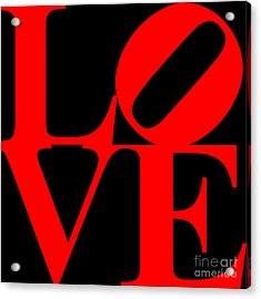 Love 20130707 Red Black Acrylic Print by Wingsdomain Art and Photography