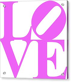 Love 20130707 Violet White Acrylic Print by Wingsdomain Art and Photography