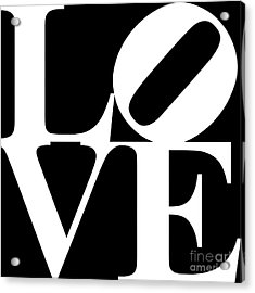 Love 20130707 White Black Acrylic Print by Wingsdomain Art and Photography