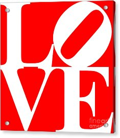 Love 20130707 White Red Acrylic Print by Wingsdomain Art and Photography