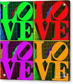 Love 4 Philadelphia - Painterly V4 Acrylic Print by Wingsdomain Art and Photography