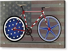 Love America Bike Acrylic Print by Andy Scullion