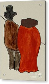 Acrylic Print featuring the painting Love And Marriage by Bill OConnor
