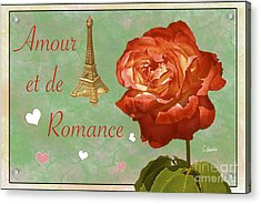 Love And Romance Acrylic Print by Claudia Ellis