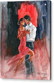 Love And Tango Acrylic Print by Melly Terpening