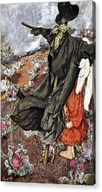 Love And The Scarecrow Acrylic Print by Eleanor Fortescue Brickdale