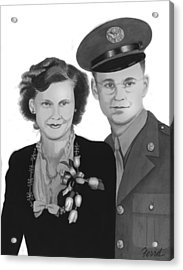 Acrylic Print featuring the painting Love And War by Ferrel Cordle