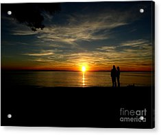 Love At Sunset Acrylic Print