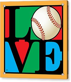 Love Baseball Acrylic Print by Gary Grayson