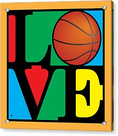 Love Basketball Acrylic Print by Gary Grayson