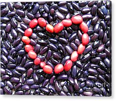 Love Beans #01 Acrylic Print by Ausra Huntington nee Paulauskaite