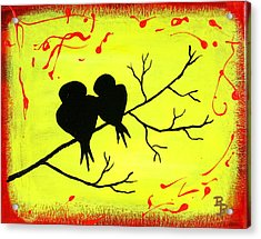 Love Birds Art Acrylic Print