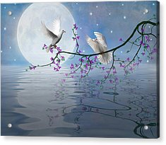 Love Birds By The Light Of The Moon-2 Acrylic Print