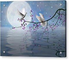 Love Birds By The Light Of The Moon-2 Acrylic Print