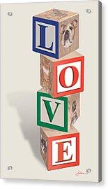 Love Blocks Acrylic Print by Harold Shull