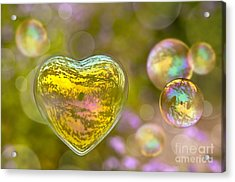 Love Bubble Acrylic Print