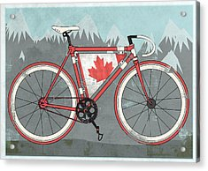 Love Canada Bike Acrylic Print by Andy Scullion