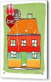 Love Card Acrylic Print by Linda Woods
