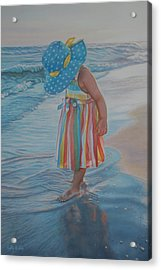 Love Comes In Many Colors Acrylic Print by Holly Kallie