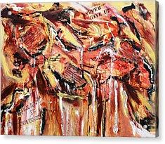 Love  Energy  Strength Acrylic Print by Victoria  Johns