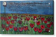 Love For Flanders Fields Poppies Acrylic Print by Laurie Maves ART
