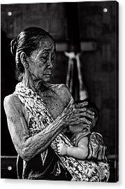Love For My Grandson Acrylic Print by Ari Widodo