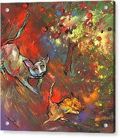 Love Games Under The Appletree Acrylic Print by Miki De Goodaboom