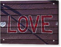 Love Acrylic Print by Garry Gay