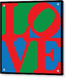 Love Acrylic Print by Gary Grayson