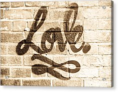 Love Graffiti Acrylic Print by Tom Gowanlock