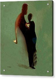 Acrylic Print featuring the digital art Love by Haleh Mahbod