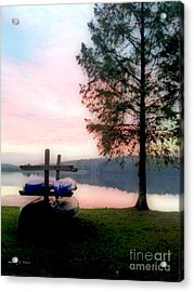 Love Him In The Morning Acrylic Print by Nancy E Stein