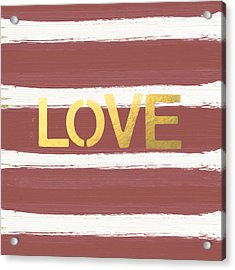 Love In Gold And Marsala Acrylic Print