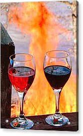 Acrylic Print featuring the photograph Love In Hell by Marie Neder