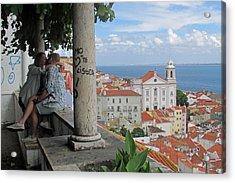 Love In Lisbon  Acrylic Print