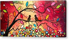 Love In The Air With Flowers Everywhere Acrylic Print