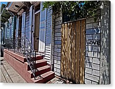 Love In The Marigny Acrylic Print by Andy Crawford