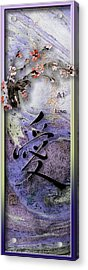 Love Ink Brush Calligraphy Acrylic Print by Peter v Quenter