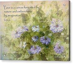 Love Is A Canvas Acrylic Print